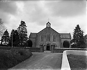 Roman catholic Church near Clonmore, Co. Tipperary.30/03/1957..Clonmore (Irish: An Cluain Mhór) is a village in North Tipperary, Ireland. It lies on the R433 road 6 km from Templemore and 7 km from Errill in County Laois. It is part of the parish of Templemore, Clonmore and Killea. The Gaelic Athletic Association club is JK Brackens GAA.