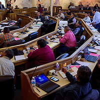 Navajo Nation council delegates meet for a special session of the Navajo Nation Council Thursday in Window Rock.