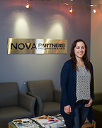 Nova Partners, Inc. associates pose for a portrait at the corporate office in Palo Alto, California, on October 1, 2015. (Stan Olszewski/SOSKIphoto)