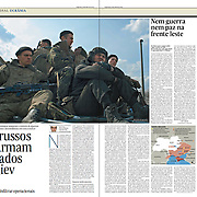 """Tearsheet of """"Tensions in eastern Ukraine"""" published in Expresso"""