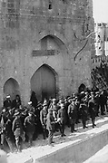 World War I 1914-1918: Field Marshal Allenby's entry into, Jerusalem, 11 December 1917. Haddad Bey reading the proclamation in Arabic. Allenby, British soldier and administrator, Commander of Egyptian Expeditionary Force.