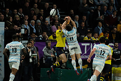 January 8, 2018 - Nanterre, Hauts de Seine, France - Racing Metro 92 Wing MARC ANDREU in action during the French rugby championship Top 14 match between Racing Metro 92 and Clermont at U Arena Stadium in Nanterre - France.Racing won 58-6 (Credit Image: © Pierre Stevenin via ZUMA Wire)