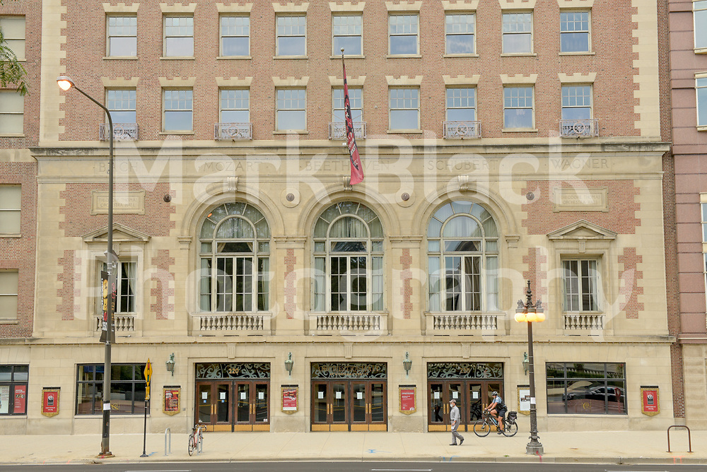 Orchestra Hall at Symphony Center is the home of the Chicago Symphony Orchestra (CSO) along Michigan Avenue in Chicago, Illinois.<br /> Photo by Mark Black