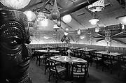 deLay630321-08. Kon-Tiki restaurant at Sheraton Hotel, for NW Natural Gas ad. March 21, 1963 (Sheraton, 1000 NE Multnomah, Lloyd Center)