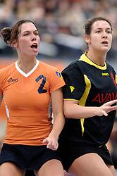 05-02-2006 KORFBAL: NEDERLAND - BELGIE: DRIEBERGEN<br /> Nederland wint met 21-12 van Belgie / Samantha Jonkman<br /> ©2006-WWW.FOTOHOOGENDOORN.NL