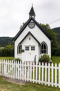 Burgoyne United Church is the oldest Protestant Church on Salt Spring Island and was constructed in 1887. Photographed along Fulford-Ganges Road near Burgoyne Bay on Salt Spring Island, British Columbia, Canada.