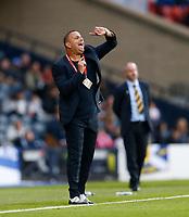 Football - 2018 / 2019 UEFA European Championship Qualifier - Group I: Scotland vs. Cyprus<br /> <br /> Cyprus head coach Ran Ben Shimon during the European Championship Qualifying match between Scotland and Cyprus, at Hampden Park, Glasgow.<br /> <br /> COLORSPORT/BRUCE WHITE