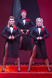 """© Licensed to London News Pictures. 17/06/2015. London, UK. L-R: Georgina Hagen, Rachel Stanley and Louise Dearman. UK premiere of """"Judy - The Songbook of Judy Garland"""" - a show celebrating the classic songs of Judy Garland - opens at the New Wimbledon Theatre, London before a UK tour. The show runs from 16 to 20 June 2015. Photo credit : Bettina Strenske/LNP"""