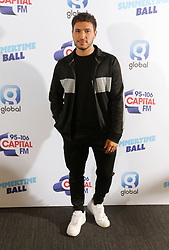 Jonas Blue on the red carpet of the the media run during Capital's Summertime Ball. The world's biggest stars perform live for 80,000 Capital listeners at Wembley Stadium at the UK's biggest summer party.