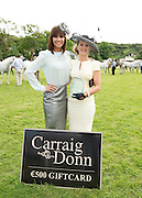09/08/2012 Gillian Quinn who judged the best dressed at the  Connemara Pony Show in  with Goda Faherty from Oughterard Co. Galway  winner of the best dressed Competition at the Connemara Pony Show in Clifden County Galway . Photo:Andrew Downes.