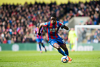 LONDON, ENGLAND - MARCH 31: Wilfried Zaha (11) of Crystal Palace  during the Premier League match between Crystal Palace and Liverpool at Selhurst Park on March 31, 2018 in London, England.