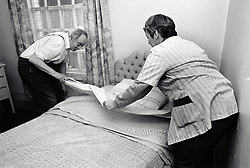 Carer & elderly man, Nottingham UK 1989