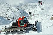Israel, Hermon Mountain snowplough