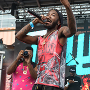 WASHINGTON, DC - August 17th, 2013 -  Rapper Shy Glizzy performs at the 2013 Trillectro Festival at the Half Street Fairgrounds in Washington, D.C.  (Photo by Kyle Gustafson / For The Washington Post)