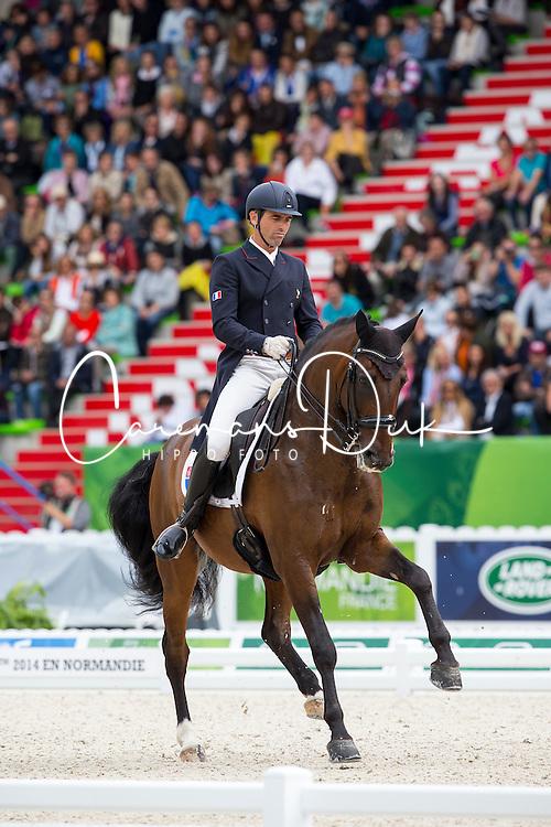 Arnaud Serre, (FRA), Robinson De Lafont De Massa - Grand Prix Special Dressage - Alltech FEI World Equestrian Games™ 2014 - Normandy, France.<br /> © Hippo Foto Team - Leanjo de Koster<br /> 25/06/14
