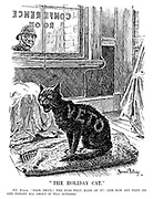 """""""The Holiday Cat."""" PC Punch. """"Poor devil! The fuss they made of it!—And now off they go and forget all about it till October."""""""
