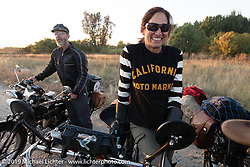 Andrea Labarbara of Foxboro, MA rode her 1913 Henderson (Her other transportation is made by Airbus!) every mile of the Motorcycle Cannonball coast to coast vintage run. Stage 10 (299 miles) from Sturgis, SD to Billings, MT. Tuesday September 18, 2018. Photography ©2018 Michael Lichter.