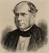 Henry Bessemer (1813-1893) English engineer, inventor and industrialist.  Among his inventions were the Bessemer steel process and the  Bessemer converter.  Engraving, 1875.