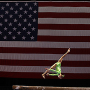 Madison Kocian, Dallas, Texas, in action on the Balance Beam during the Senior Women Competition at The 2013 P&G Gymnastics Championships, USA Gymnastics' National Championships at the XL, Centre, Hartford, Connecticut, USA. 15th August 2013. Photo Tim Clayton