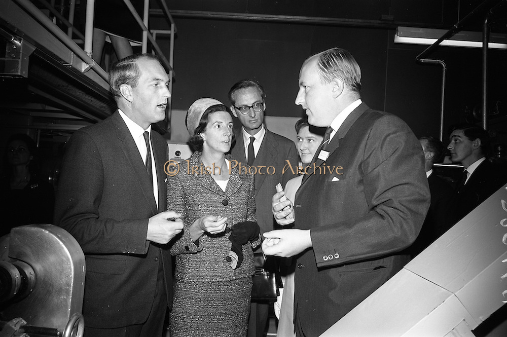 10/10/1966<br /> 10/10/1966<br /> 10 October 1966<br /> Opening of new Roma Foods Products Ltd. factory at Finglas, Dublin. Picture shows  (l-r): Mr. George Colley, Minister for Industry and Commerce; Mrs Mary Colley; Baron Vittoro Guicciardi, Italian Ambassador; Mrs. Patrick Meade and Mr. Patrick Meade, Managing Director.