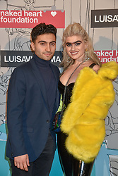 Sophia Hadjipanteli and guest at the Fabulous Fund Fair in aid of Natalia Vodianova's Naked Heart Foundation in association with Luisaviaroma held at The Round House, Camden, London England. 18 February 2019.