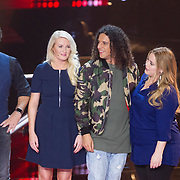 NLD/Hilversum/20151211 - 2e Liveshow The Voice of Holland, TVOH, Jury Marco Borsato, Sanne Hans, Ali B, en Anouk