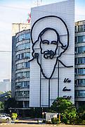 Cuba, Havana, Revolution square Che Guevara sculpture