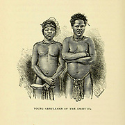 Young Amazulu men From the Book 'Christian adventures in South Africa' by Reverend William Taylor, 1821-1902. Published in New York by Nelson & Phillips 1877
