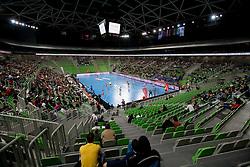 Arena Stozice during handball match between RK Krim Mercator and Buducnost Podgorica (MNE) in season 2011/2012 of EHF Women's Champions League, on February 24, 2012 in Arena Stozice, Ljubljana, Slovenia. Buducnost defeated Krim 27-26. (Photo By Vid Ponikvar / Sportida.com)