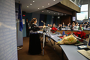 Roma  representative Miranda Voulasranta from Finland. Roma Travellers  Forum, Council of Europe, Strasbourg  December 2005.  An historic moment for Roma Gypsies across  Europe. The opening plenary assembly. Roma self-determination is recognized officially  at European level.