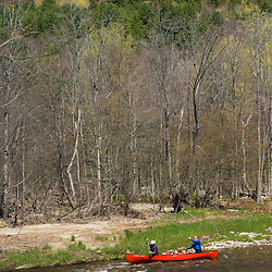 Canoeing the Ashuelot River in Surry, NH.  A tributary of the Connecticut River.