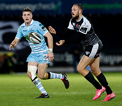 2nd November, Liberty Stadium , Swansea, Wales ; Guinness pro 14's Ospreys Rugby v Glasgow Warriors ;  Cory Allen of Ospreys<br /> <br /> Credit: Simon King/News Images<br /> <br /> Photographer Simon King/Replay Images<br /> <br /> Guinness PRO14 Round 8 - Ospreys v Glasgow Warriors - Friday 2nd November 2018 - Liberty Stadium - Swansea<br /> <br /> World Copyright © Replay Images . All rights reserved. info@replayimages.co.uk - http://replayimages.co.uk