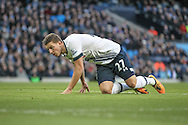 Kevin Wimmer (Tottenham Hotspur) during the Barclays Premier League match between Manchester City and Tottenham Hotspur at the Etihad Stadium, Manchester, England on 14 February 2016. Photo by Mark P Doherty.