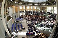 23 MAY 2004, BERLIN/GERMANY:<br /> Uebersicht des Plenarsaales, waehrend der Rede von Horst Koehler, nach seiner Wahl, Sitzung der Bundesversammlung anlässlich der Wahl des Bundespraesidenten, Deutscher Bundestag<br /> IMAGE: 20040523-01-072<br /> KEYWORDS: Bundespräsident, Plenum, Übersicht