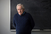 3rd February, 2015. Cambridge, Massachusetts, USA. Portraits of American linguist, philosopher, logician and political commentator Noam Chomsky at his office in the Massachusetts Institute of Technollogy (photo Edu Bayer)