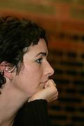GroenLinks partijleider Femke Halsema is in debat ter gelegenheid van de presentatie van het boek van CNV voorzitter Doekle Terpstra.<br /> <br /> Party leader Femke Halsema of GroenLinks in debat during the launch of a book by Doekle Terpstra, former chairman of the Dutch labour union CNV.
