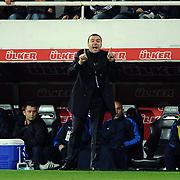 IBBSpor's coach Arif Erdem during their Turkish superleague soccer match Besiktas between IBBSpor at BJK Inonu Stadium in Istanbul Turkey on Sunday, 11 December 2011. Photo by TURKPIX