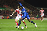 Romelu Lukaku of Everton in action.  Barclays Premier League match, Stoke city v Everton at the Britannia Stadium in Stoke on Trent , Staffs on Wed 4th March 2015.<br /> pic by Andrew Orchard, Andrew Orchard sports photography.