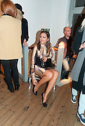 ILARIA CASARI, Giles Deacon after-show party. Elm lester painting rooms. Leicester Sq. London. 19 September 2011. <br /> <br />  , -DO NOT ARCHIVE-© Copyright Photograph by Dafydd Jones. 248 Clapham Rd. London SW9 0PZ. Tel 0207 820 0771. www.dafjones.com.