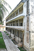 Former high school that was used as Security Prison 21 (S-21) by the Khmer Rouge from 1975 to 1979. An estimated 17,000 prisoners were held there with only 12 known survivors. The building is now Tuol Sleng Genocide Museum. Phnom Penh, Cambodia, 2003