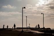 Israel,Tel Aviv, Sunset in Chares Clore Park