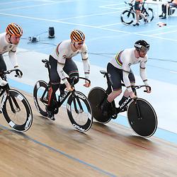19-02-2020: Wielrennen: persmoment KNWU: Alkmaar <br />De teamsprinters moeten volgende week in Berlijn de titel verdedigen
