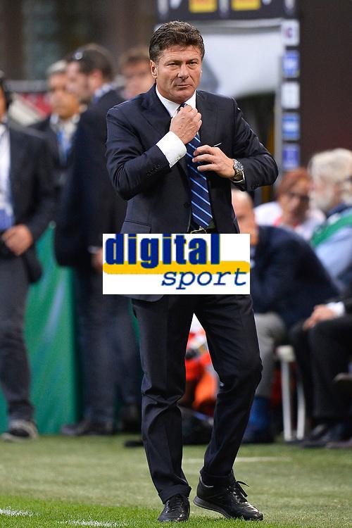 Walter Mazzarri Inter coach <br /> Milano 25/8/2013 Stadio Giuseppe Meazza <br /> Football Calcio Serie A<br /> Inter - Genoa <br /> Foto Andrea Staccioli Insidefoto