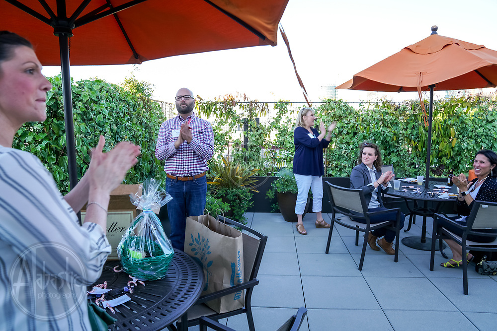 MPIWSC Strictly Social May 2018 at Hyatt House Seattle raffle prizes. Photo by Alabastro Photography.