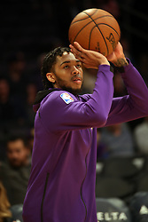 November 17, 2017 - Los Angeles, California, U.S - Lakers Brandon Ingram during warms ups prior to the start  of the contest as the host Los Angeles Lakers fall to the  visiting Phoenix Suns 122-113 on Friday, November 17, 2017  at the Staples Center in Los Angeles, California.  BURT  HARRIS/PI (Credit Image: © Prensa Internacional via ZUMA Wire)