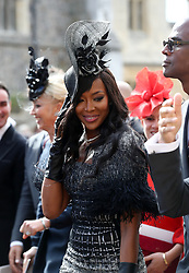 Naomi Campbell after the wedding of Princess Eugenie to Jack Brooksbank at St George's Chapel in Windsor Castle.