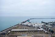 A quiet checkin in area inside the Eastern Dock of the Port of Dover is where the cross channel port is situated with ferries departing here to go to Calais in France. Dover, Kent, United Kingdom.  Dover is the nearest port to France with just 34 kilometres (21 miles) between them. It is one of the busiest ports in the world. As well as freight container ships it is also the main port for P&O and DFDS Seaways ferries.  (photo by Andrew Aitchison / In pictures via Getty Images)