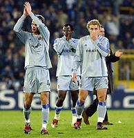 Fotball<br /> UEFA Champions League 2003/2004<br /> 04.11.2003<br /> Club Brügge / Brugge v AC Milan<br /> David Rozehnal (4) - Andres Mendoza og Bengt Sæternes<br /> Foto: Morten Olsen, Digitalsport