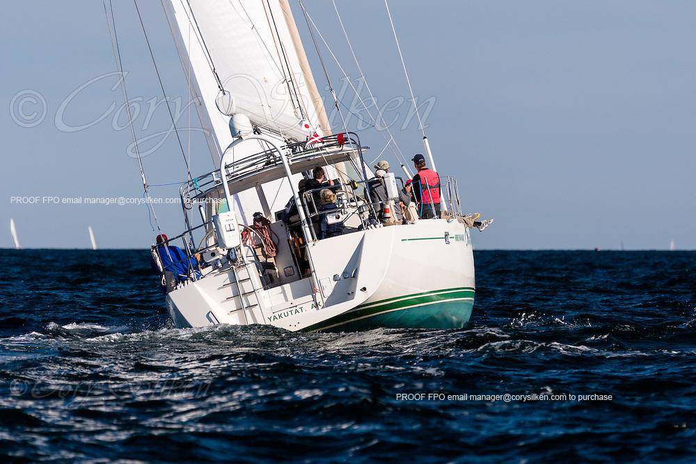 Free Range Chicken sailing in the Newport Bermuda Race.