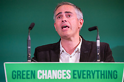 © Licensed to London News Pictures. 05/10/2018. Bristol, UK. Green Party Autumn Conference, held at Bristol City Hall. Co-leader JONATHAN BARTLEY. The key note speech by Co-leaders Sian Berry and Jonathan Bartley. Photo credit: Simon Chapman/LNP